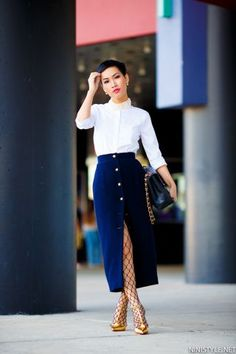 Classic look by Nini Nguyen in #VFBestDressed. Check out this week's Editors' Picks at http://vnty.fr/1hmsfj3