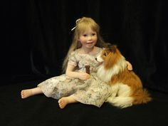 Julie Fischer is a native of Wisconsin. She creates beautiful one of a kind doll art.