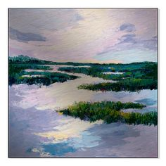 Gallery Direct Purple Meadows II Print by Maxine Price on Mounted Wall Art