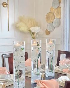 Diy Crafts For Home Decor, Diy Crafts Hacks, Craft Room Decor, Table Decor Living Room, Dollar Tree Decor, Flower Arrangements, Table Decorations, Decorating With Vases, Vase With Lights