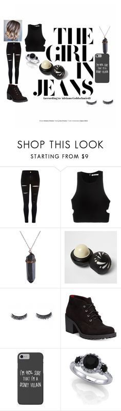 """""""the girl in jeans"""" by lalablue241 ❤ liked on Polyvore featuring River Island, T By Alexander Wang, American Rag Cie and Disney"""