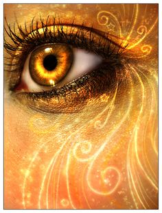 Here's a truly magical collection of fantasy eyes photo manipulation, creatively inspiring photo manipulations that will surely amaze you. Yellow Eyes, Mellow Yellow, Pretty Eyes, Cool Eyes, Gif Kunst, Fire Eyes, Most Beautiful Eyes, Beautiful Dragon, Crazy Eyes