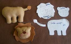 Leão com molde
