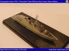 Foscari P493, Cigala Fulgosi / Comandanti Class Corvette, Italian Navy / Marina Militare, 1/700 Scale Model Ship
