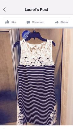 Striped top with lace. Stitch fix spring/summer 2016