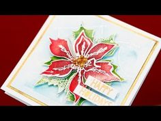 ▶ Easy Distress Ink Watercolor + Pearlized Water - YouTube
