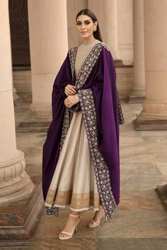 May 2020 - Buy Silk Embroidered Anarkali Set by Jayanti Reddy at Aza Fashions Pakistani Dresses Casual, Indian Fashion Dresses, Indian Bridal Outfits, Indian Gowns Dresses, Dress Indian Style, Pakistani Dress Design, Pakistani Bridal, Indian Dresses For Women, Pakistani Fashion Casual