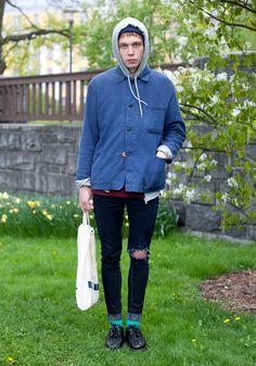 "Sten, 22  ""I just buy what I like and modify the clothes myself. I like Damir Doma and Laivi Suurväli. Music inspires me: I love Huoratron and Kap Bambino."""
