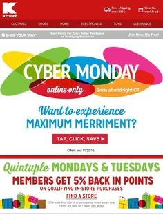 15 best email holidaycyber monday images on pinterest cyber save big at cyber monday fandeluxe Choice Image