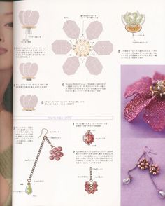 Crochet Earrings Pattern, Foot Bracelet, Beaded Jewelry Patterns, Beaded Flowers, Projects To Try, Beaded Necklace, Beads, Beadwork, Jewelry Making