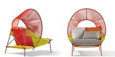 Traveler - une collection de mobilier extérieur pour Roche Bobois