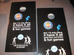Dave & Busters cornhole boards