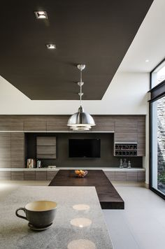 Casa AGR / ADI Arquitectura y Diseño Interior foto: Oscar Hernández Luxury Home Decor, Luxury Interior Design, Contemporary Interior, Interior Architecture, Interior Decorating, Kitchen Interior, Kitchen Design, Big Kitchen, Espace Design