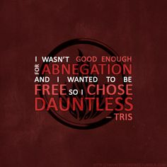 Tris choosing to be Dauntless