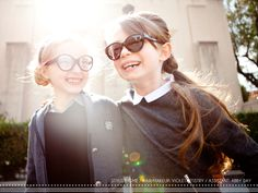 Back in Session by Gretchen Easton, The Mod Child {so totally Cora and Eva! One in geek glasses and one in cool shades...}