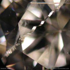 Diamond Inclusions: Ribbon Feather Inclusions in Diamond