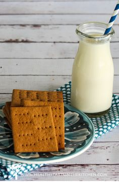 Homemade Grain, Gluten  Nut Free Graham Crackers (Paleo Friendly)