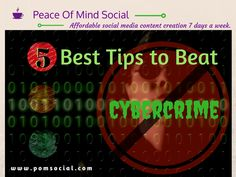 5 Best Tips to Beat Cybercrime http://www.smeweb.com/sme/top-tips-for-defending-against-cyber-crime Peace of Mind Social - Affordable social media content creation 7 days a week. #cybercrime #security #tips