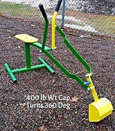 Ride on Playground Sandbox Digger Backhoe Sand Excavator-Made USA
