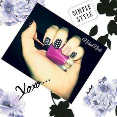 ••• Tuesday mood ••• Base and top coat: Rival De Loop; Moyra Gel Look - 943 Nina (black), 944 Chantal (white); Essence - The gel nail polish 12 mandarine bay