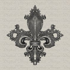 Fleur de Lis French Ornate Digital Download for by DigitalThings, $1.00