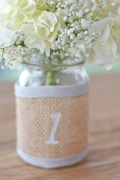 Items similar to Burlap wrap mason jar home decor or Wedding table initials/numbers, table centerpiece modern, rustic, vintage with color trim on Etsy Vintage Pattern Design, Vintage Logo Design, Wedding Table, Rustic Wedding, Wedding Ideas, Vintage Candy Bars, Morganite Engagement, Vintage Party, Wedding Rings Vintage
