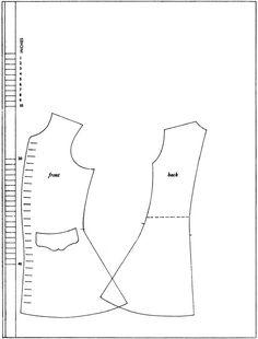 1710-tal, 1720-tal, väst. Försöker förstå hur ett mönster till en rock och väst är uppbyggt. Pattern, waistcoat.
