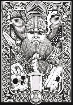 Happy Wednesday!!!! (Glædelig Onsdag!!!!) Odin and His RAVENS!!!!!