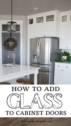 Want to add some pretty updates to your kitchen? This tutorial will show you how to add glass to cabinet doors for a modern and airy look.