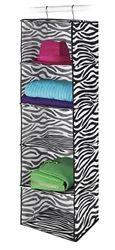 Zebra 5 Sweater Shelf Organizer Supplies For College Fun Dorm Stuff Zebra Print College Closet Essentials