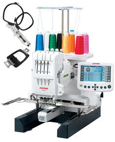 Knock out your embroidery projects with the Janome four-needle embroidery machine! Get this powerful embroidery machine from Sewing Machines Plus. Hat Embroidery Machine, Commercial Embroidery Machine, Embroidery Patterns, Sewing Patterns, Computer Embroidery Machine, Embroidery Machines For Sale, Brother Embroidery Machine, Floral Embroidery, Stitch Counter
