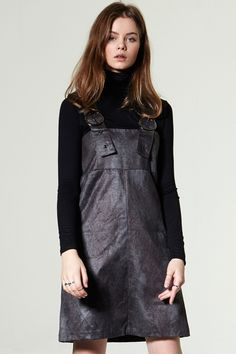 Toa Suspender Suede Dress Discover the latest fashion trends online at storets.com