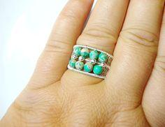 Adjustable Turqoise Ring | JewelryLessons.com