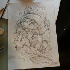 Tanuki #serieztattoo #tatuaje #tattooing #japaneseart #japanese #sketching…