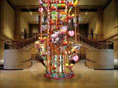 """Join The BombShells of Cincinnati and their fabulous Sidekicks as they create a monumental installation that will hang from the center of the Great Hall at the Cincinnati Art Museum. The colorful knitted and crocheted installation will consist of a """"soft"""" chandelier, 5 larger than life sized marionette puppets, and whimsical and """"heartfelt"""" yarn-bombing art. In addition to the installation, there will be """"craft"""" stations set up and facilitated by the BombShells. You're invited to create your…"""