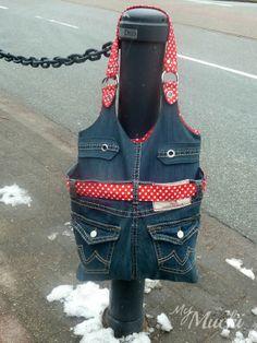 My Mucki: Wenn die Hose nicht mehr passt wird halt ne Tasche draus - New upcycling jeans bag - Lorelai - Lillesol & Pelle