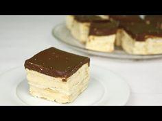 Φανταστική τούρτα εκλέρ χωρίς ψήσιμο. No-Bake Eclair Dessert Recipe - YouTube Cold Desserts, No Bake Desserts, Something Sweet, Custard, Tiramisu, Cheesecake, Cooking Recipes, Sweets, Candy