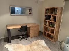 Great looking timber home office custom made