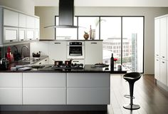 Cologne Smooth White Kitchens