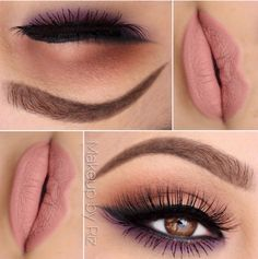 Brown and purple eyeshadow