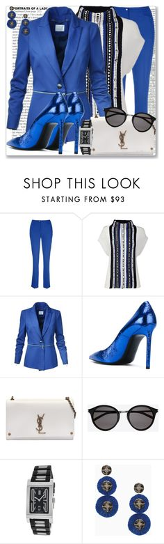 """Saint Laurent 12.30"" by rosalol ❤ liked on Polyvore featuring Yves Saint Laurent, Bulgari and Stella & Dot"