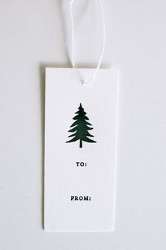 christmas tree black and white: evergreen letterpress gift tags | gift wrap . Geschenkverpackung .  paquet-cadeau | @ inhauspress |