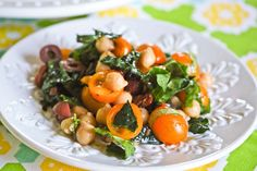 kale and chicpea salad-The Spontaneous Hausfrau