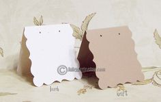 24 DECO 2.5x2.5 inch Tent Cards EARRING CARDS by JulryPartZ
