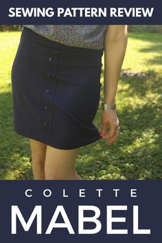 The Colette Mabel knit skirt is a fast sewing project that's great for sewists new to knits.