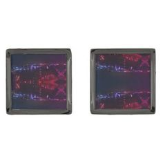 #Designer Cufflinks City Lights Abstract Art Cufflinks - cyo customize design idea do it yourself diy