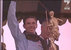 Jim Clark winning the British Grand Prix