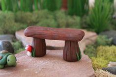 Polymer clay bench  Terrarium Accessories  Miniature от GnomeWoods