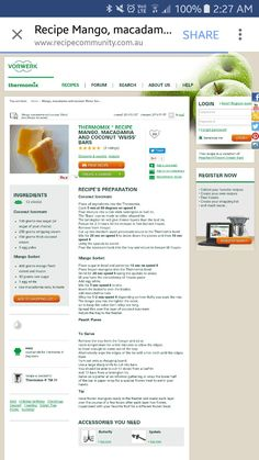 Mango Sorbet, Meat Recipes, Meals, Dishes, Vegetables, Meal, Tablewares, Vegetable Recipes, Yemek