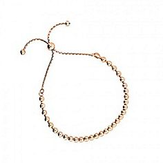 Azendi - Gold adjustable bead bracelet